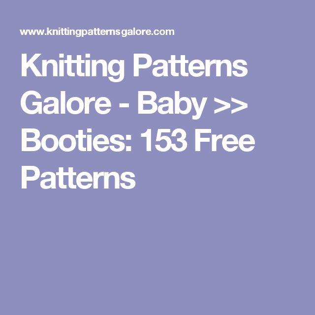 Knitting Patterns Galore - Baby >> Booties: 153 Free Patterns