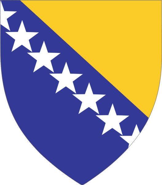 Bosnien und Herzegowina Wappen im Bosnien und Herzegowina Reiseführer http://www.abenteurer.net/1180-bosnien-und-herzegowina-reisefuehrer/