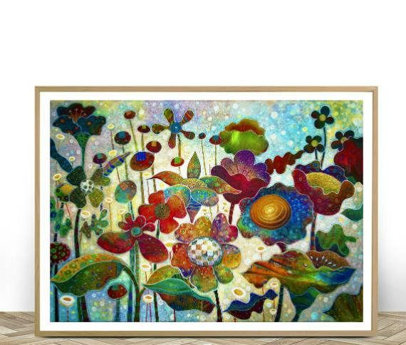 Printable Wall Art Colorful Flowers Printable Flowers