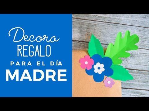 Mira esta linda idea para decorar la cajita de regalo de mamá y sorprenderla con unas hermosas flores