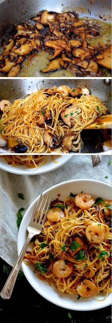 Delicious Crispy Shrimp Pasta