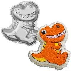 Dinosaur Cake Pan by Wilton- that would make things easier. :)