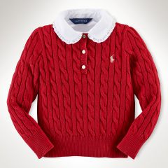 Cable-Knit Henley Pullover - Girls 2-6X Sweaters - RalphLauren.com