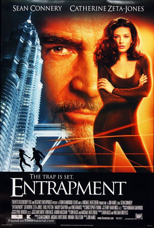 entrapment the trap is set'' 1999 u.s movie poster. (g). | movie