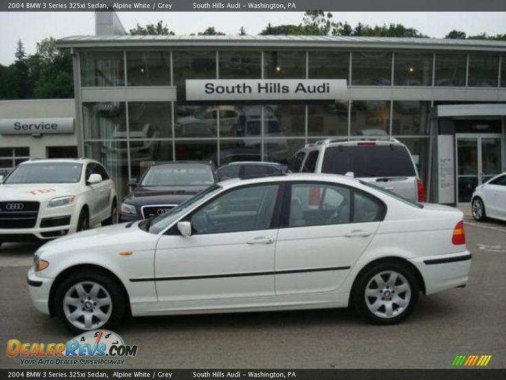 2004 bmw 325xi  2004 BMW 3 Series 325xi Sedan Alpine White  Grey