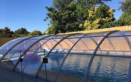 Excelite Pool Enclosure As a polycarbonate sheet manufacturer,Excelite invested a new factory to manufacture swimming pool enclosures,Excelite swimming pool enclosure ensure you up to 15 years warranty,and we have more price advantage and quality control ability.You will get our fully support on Pool enclosure installation and safe payment assurance.Just tell us your pool size now …