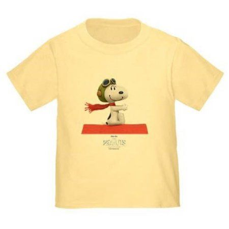 CafePress Flying Ace - The Peanuts Movie Toddler T-Shirt, Yellow