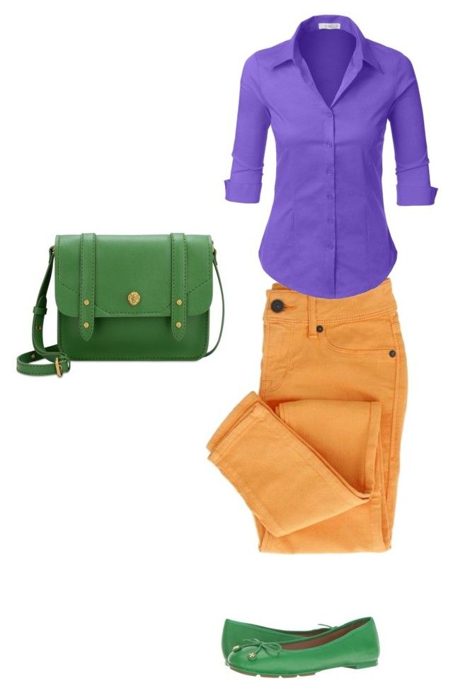 Color Set 3 Триада by elena230-1 on Polyvore featuring мода, LE3NO, Tory Burch and Anne Klein