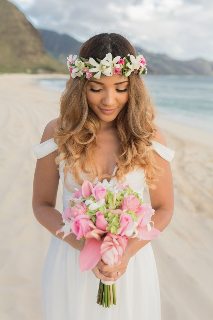 63 best Beach Wedding Hair Styles images on Pinterest | Bridal ...
