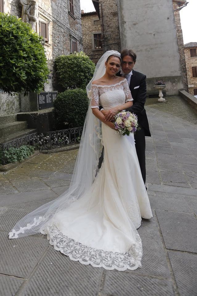 La belissima Linda con il suo abito firmato Cinzia Ferri! www.cinziaferri.com