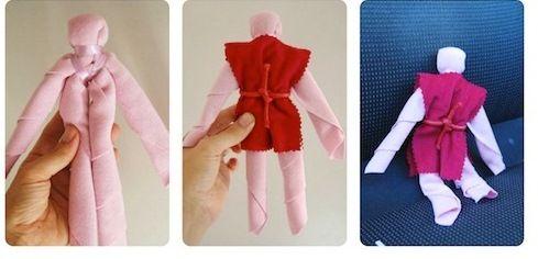 Как быстро сделать куклу Вуду из салфетки, носового платка и шнурка для обуви. Методика срочного изготовления куклы Вуду из подручных материалов с наглядными фото (Адаптированная NQN магия)