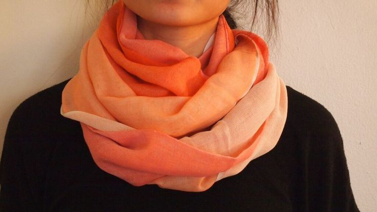 Premium cashmere pashmina scarf! Warm enough for winter, light enough for spring and fall. I love the different shades of orange in this one scarf!