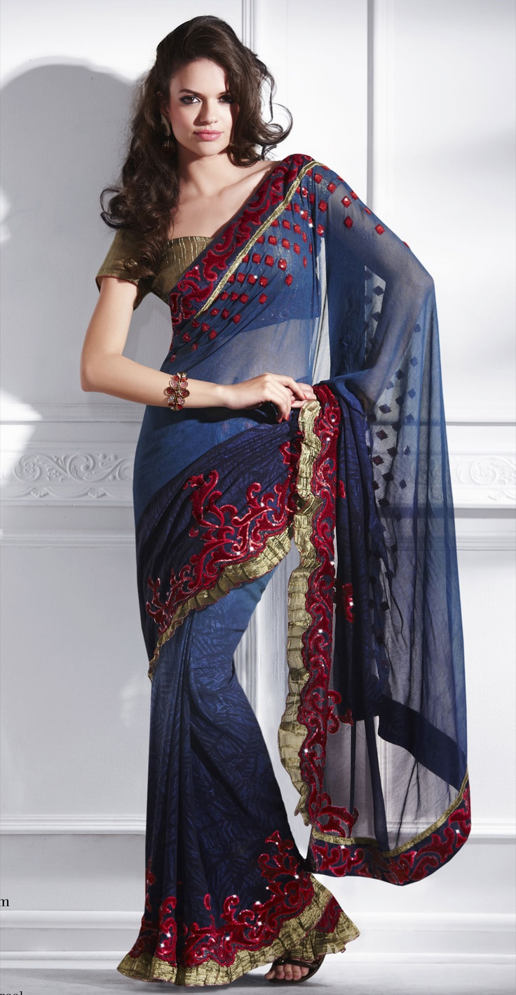 Interesting Saree by http://www.shanaiya.com/index.aspx