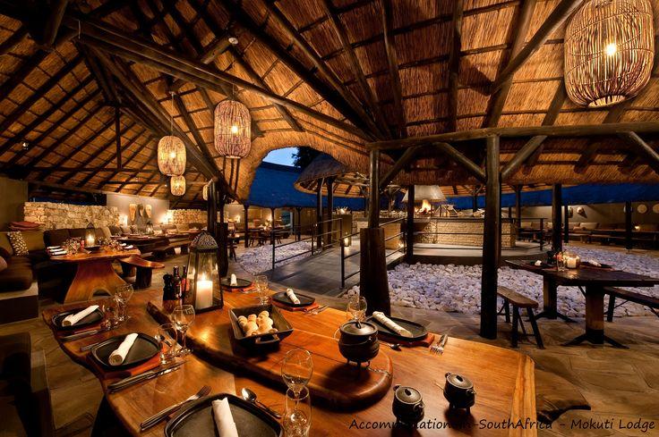 Dining room at Mokuti Etosha Lodge. http://www.accommodation-in-southafrica.co.za/Namibia/Tsumeb/MokutiEtoshaLodge.aspx