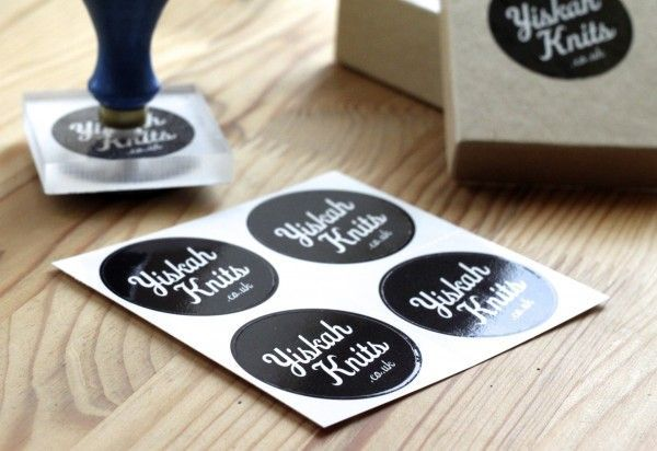 Branding & labels: Stickers & stamp   Yiskah Knits