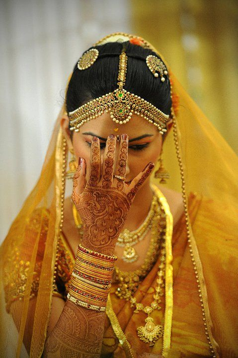 south indian bride - jewellery