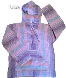 pink and purple baja hoodie for women