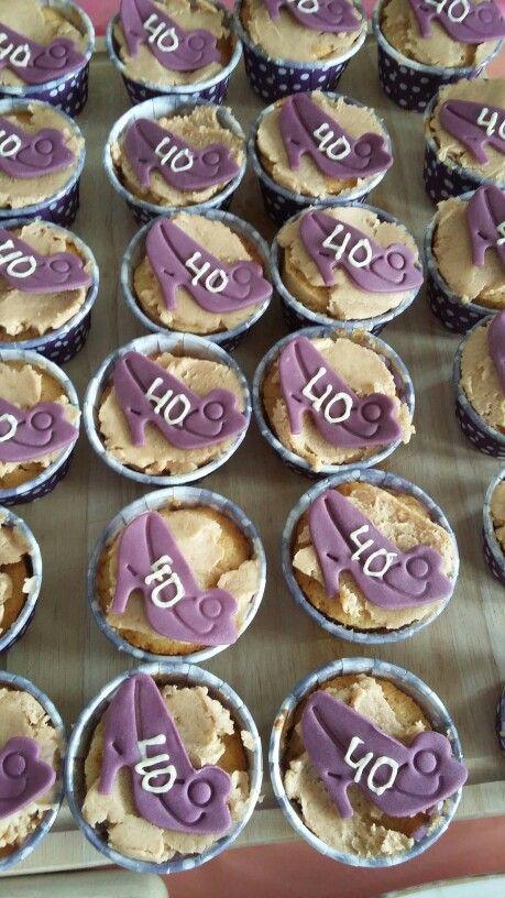 Appel kaneel cupcakes voor de veertigste verjaardag van mijn nicht