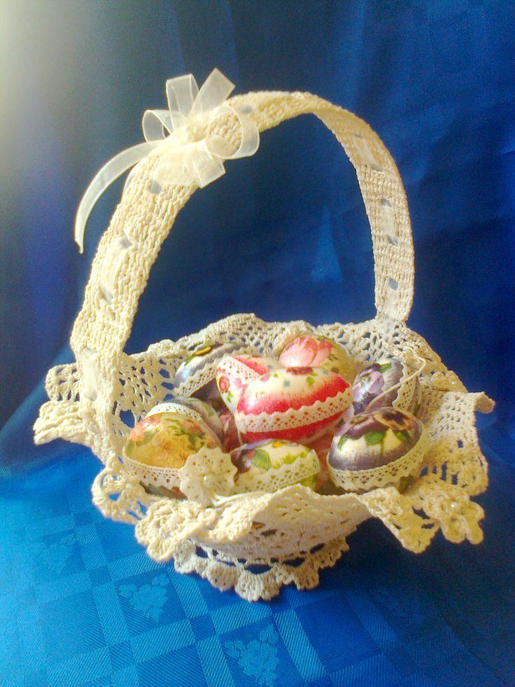 Decoupage tojások