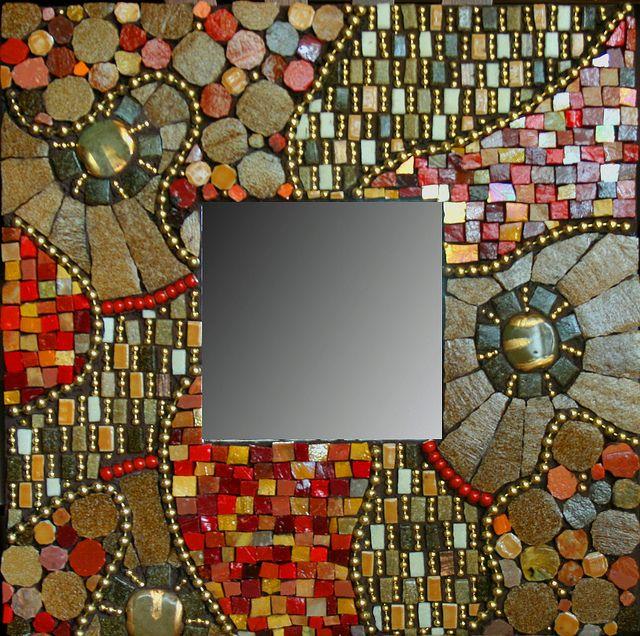 espejo de mosaicos