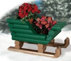 29-W1155CY - Landscape Timber Sleigh Woodworking Plan
