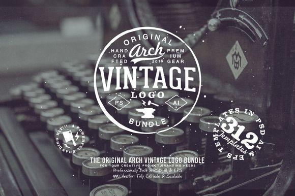 312 Arch Vintage Logo Bundle by Yusof Mining on @creativemarket