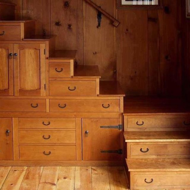 114 best images about attic on pinterest low ceilings attic conversion and amsterdam - Stairs that are drawers ...