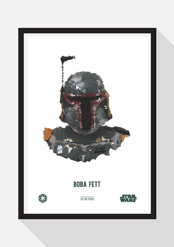 Boba Fett Portrait by TheDesignCollection on Etsy
