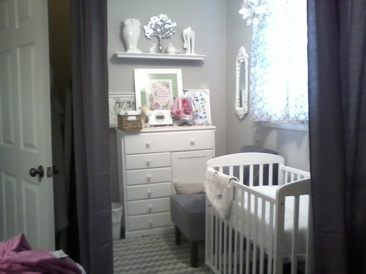 My Daughters Nursery Nook Converted From A Walk In Closet