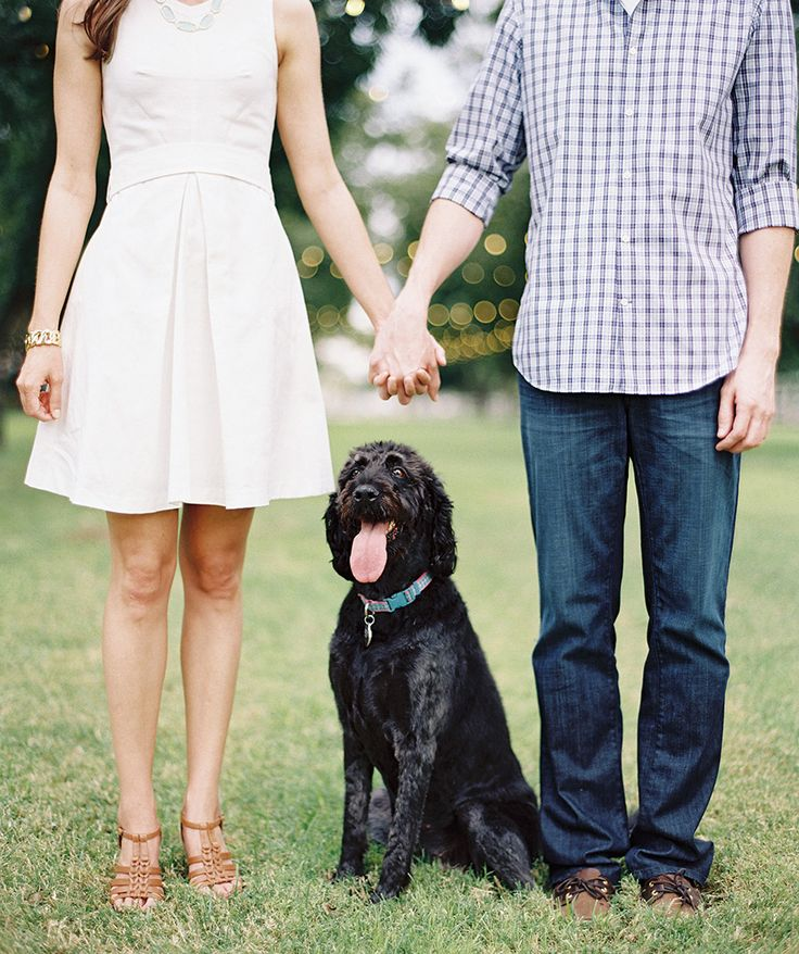 Outdoor engagement shoot with a happy dog -- casual engagement shoot styling -- Sam & Amy -- The Farm at South Mountain Engagement Shoot - Phoenix Wedding Photographer - Melissa Jill Photography