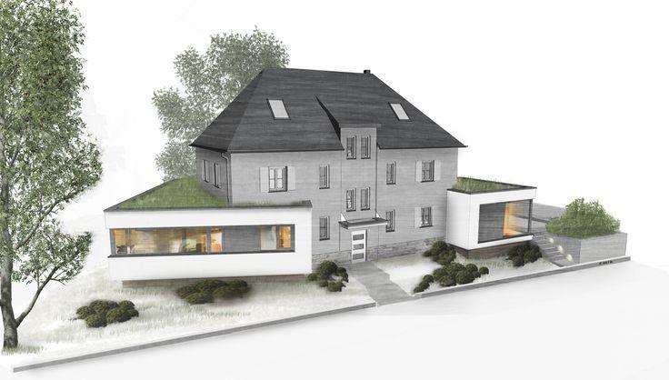 Entwurf Wohnhaus Leipzig Koloriert Innenarchitektur ZeichnungLeipzigWohnhausSkizzenZeichnungenEntwurf