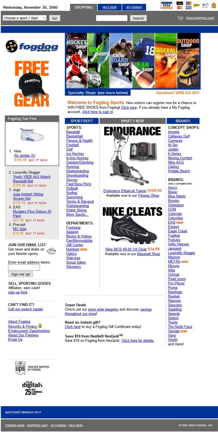 Fogdog website in 2000