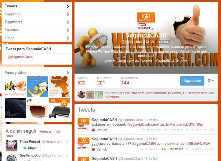 @SegundaCash .com Configuración de Redes Sociales 2013