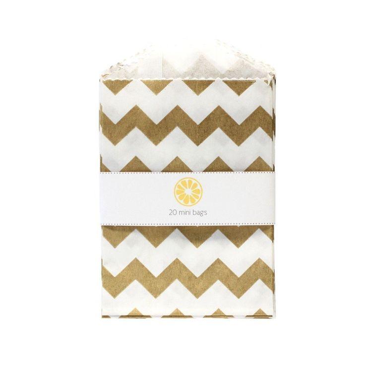 we love citrus — Mini Gold Chevron Bags
