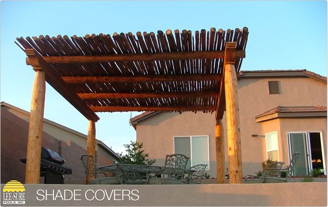 rustic, southwest style pergolaLee Sure Pools, Patios, Shades Covers, Ramada