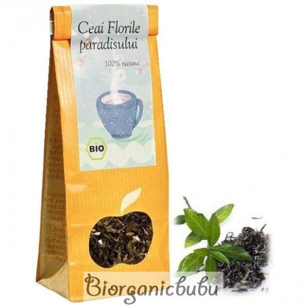 Ceai verde Florile Paradisului BIO, vrac, 70 g