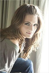 Stana Katic. Speaks at least 4 languages fluently, awesome actress, sexy without even trying.