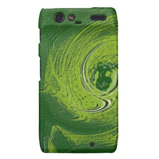 Elegant green pattern droid RAZR cases