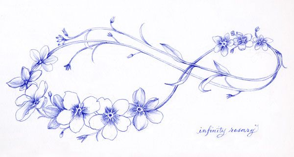Rosary Drawing With Ballpoint Pen