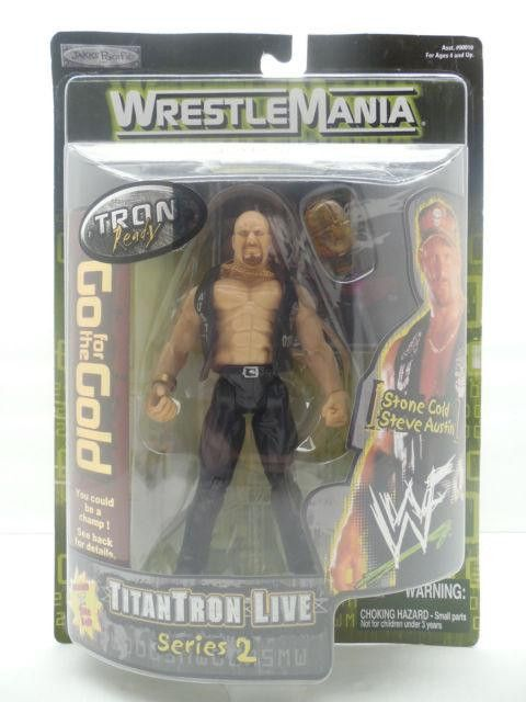Stone Cold Steve Austin WWF action figure Wrestlemania 2000 Jakks Pacific NIB