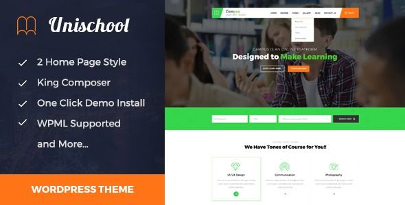 Unischool - Education WordPress Theme | Best Premium