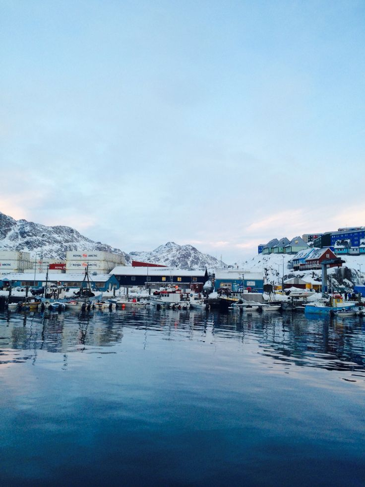 Harbour - afternoon in Sisimiut Greenland