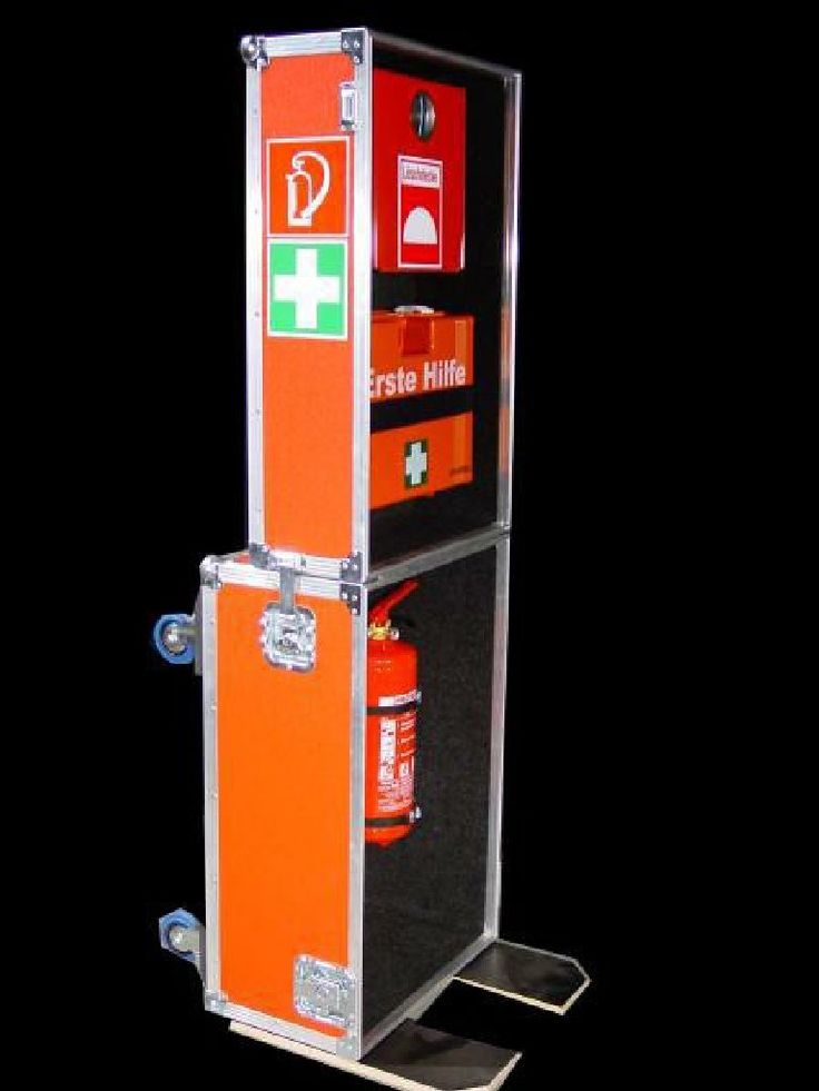 Notfallcase,Notfallcases, Erste Hilfe Koffer, Feuerlöscher im Case, Löscher Case, Löschercase - NoWe Cases