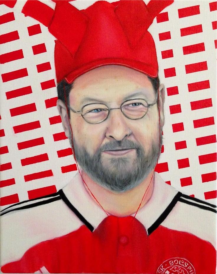 """My Danish Hero"" Oil & Acrylic on Canvas 40 cm times 50 cm"