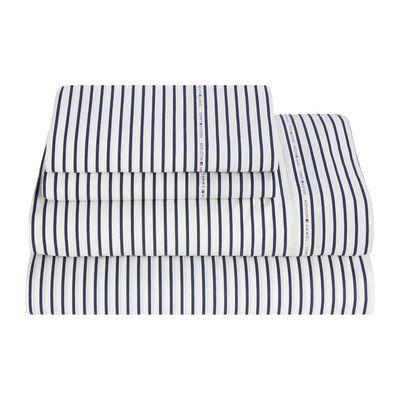 Tommy Hilfiger Signature 200 Thread Count Stripe Print Sheet Set & Reviews | Wayfair