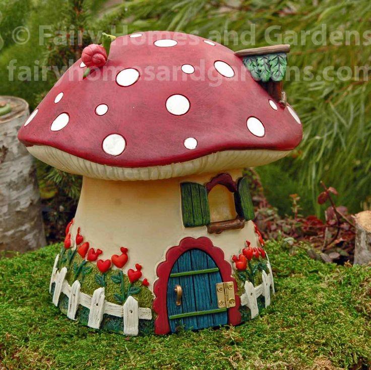 Fairy Homes and Gardens - Red Mushroom Solar Fairy Cottage, $48.00 (https://www.fairyhomesandgardens.com/red-mushroom-solar-fairy-cottage/)