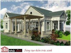 Diseño de formulario verde fresco Villa    Villa Park    tejados a dos aguas    2 Planta    3 El dinero    El Sr. Long - Tien Giang    BTNNX019