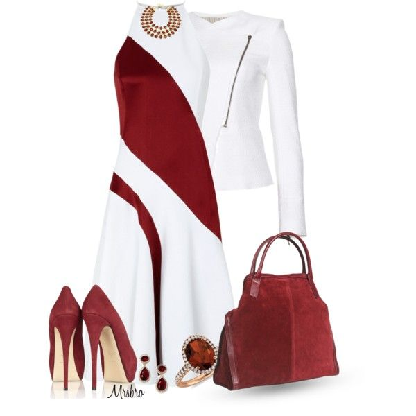 Halter Dress - Business Attire Red and White
