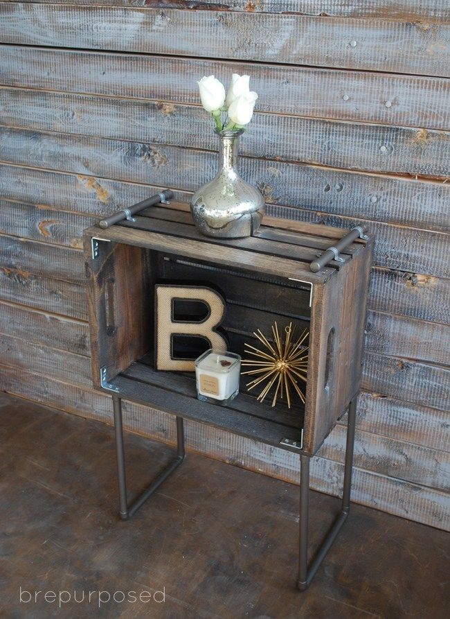 Ten of our favorite industrial chic DIY furniture projects.
