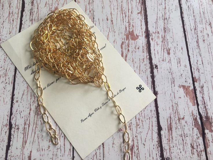 CADMOD04- Cadena en chapa de oro de 5 micras, precio por gramo Mayoreo $13.00 Menudeo $ 15.00, peso por metro 14 gr.